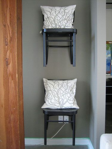 Flickr Finds Kaghassibakes Artful Chair Shelves
