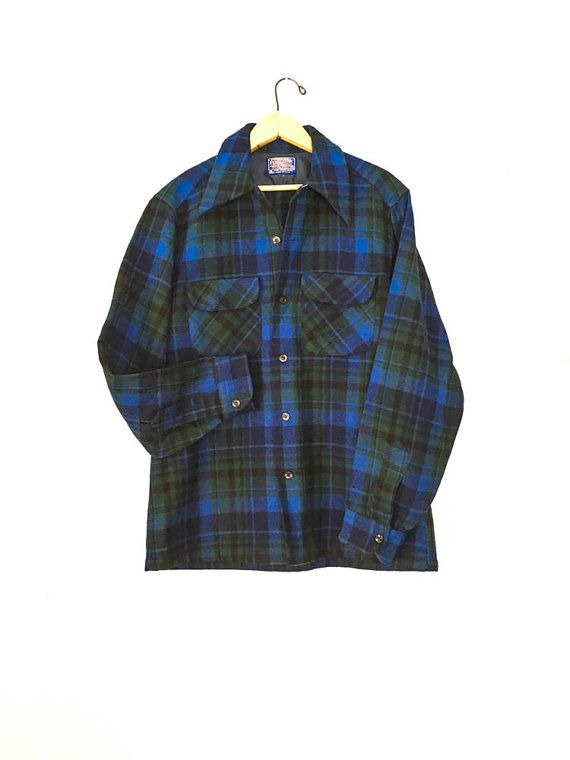 Wool Pendleton Shirt Size M Plaid Pendleton shirt by ShoeSpectrum