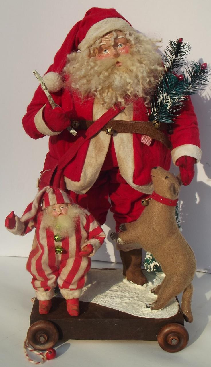 96 best handmade santas images on pinterest father christmas