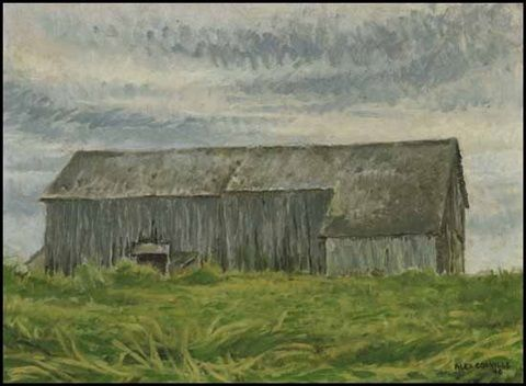 Barn in North Grand Pré, Nova Scotia by David Alexander Colville
