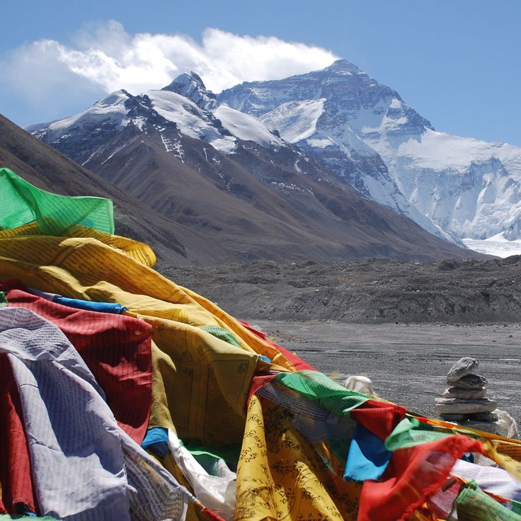 Mighty Mt  Everest taken from the Tibet base camp