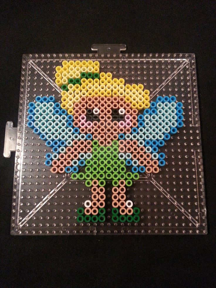 Tinkerbell Perler Bead Figure by AshMoonDesigns on deviantART