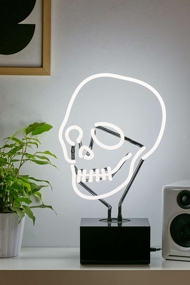 Skull table lamp, $129
