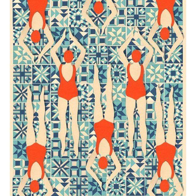 Lou Taylor Papercuts, on Etsy #bathingbeauties