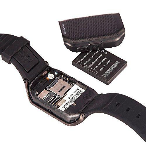 LG118 Waterproof Bluetooth Smart Watch Phone for Android IOS Samsung HTC iPhone (Black-black) 31.99  #2G/3G:Support2G(microSIMslot)2G(UnlockedGSM850/900/1800/1900MHz) #Batterycapacity:450mAh #BLACK-BLACK #EnglishUserManual #Externalmemory:SupportTFcardExtendto8GB #FM #LG118WaterproofBluetoothSmartWatchPhoneforAndroidIOSSamsungHTCiPhone(Black-black) #lianbei #PackageIncludes...