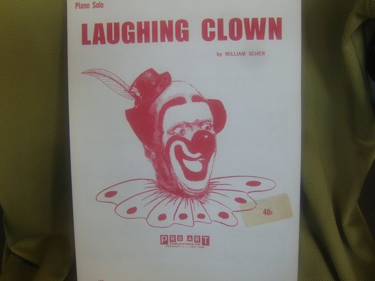 Sheet+Music+Title:+Laughing+Clown+Piano+Solo+Music+by+William+Scher
