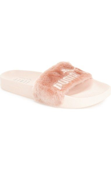 PUMA by Rihanna 'Leadcat Fenty' Faux Fur Slide Sandal (Women) available at #Nordstrom