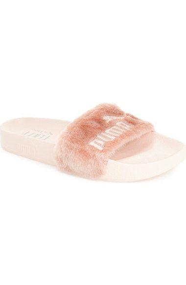 PUMA by Rihanna 'Leadcat Fenty' Faux Fur Slide Sandal (Women) available at #Nordstrom