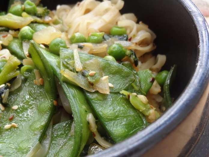 Nouilles de riz chinoises (vegan) - La Tendresse En Cuisine