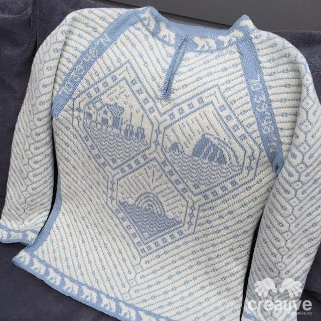 H♥BBYSYSLER: Hammerfest genseren (Søster'n strikker!)