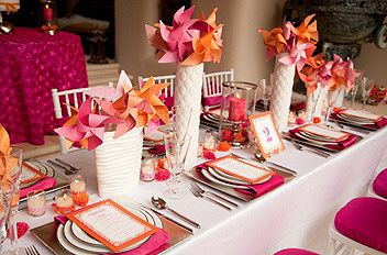 Hot pink and orange  Guest Post: Indian Wedding Décor: How to Glam up Your Tableware