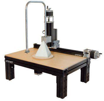 Al tratamiento térmico de espuma de poliestireno y otras espumas.  3d con la mesa giratoria CNC adicional.  (Incl Base de la máquina. El panel de madera opcional)