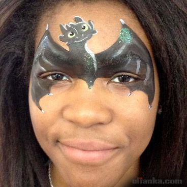 face painting toothless - Google Search