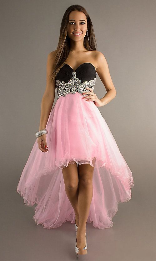 Tulle Beading Sweetheart Pink Prom Gown