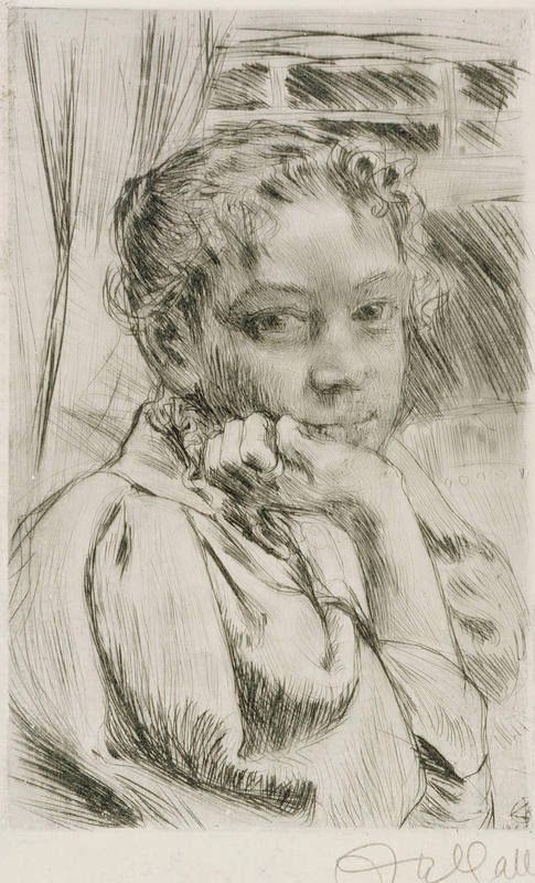 Nordic Thoughts: Mary Gallén by Akseli Gallén-Kallela (1865-1931)