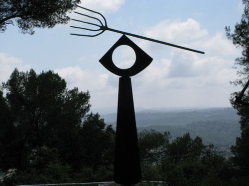 Miro's Pitchfork in the wonderful gardens at the Maeght Fondation