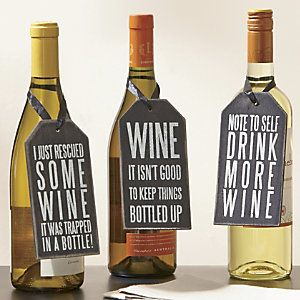 Set of 3 Wine Bottle Tags from Through the Country Door® | NI41321