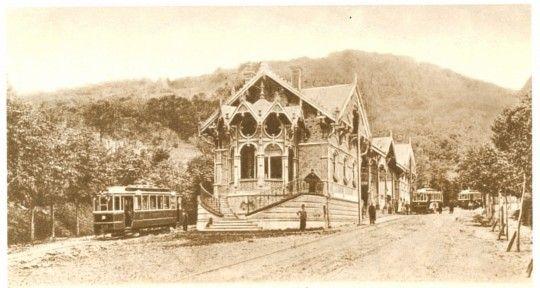 Zugliget, capolinea dei tram attorno a 1909