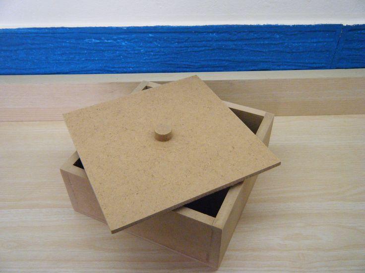 Κουτί MDF 15x15x6,5 cm