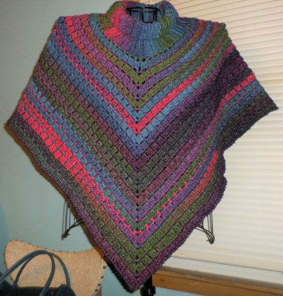 Hand CROCHETED LADIES PONCHO One Size Fits by FASHIONABLEINFANT