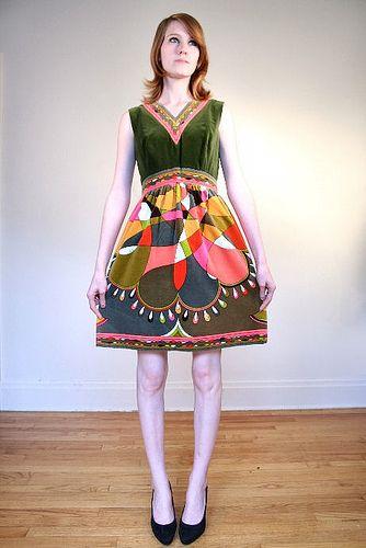 Awsome pucci dress. I love the shape—very unusal, most were shifts.