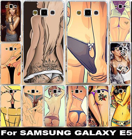Стильные Тату Сексуальные Девушки Мягкие TPU Телефон Случаях Для Samsung Galaxy Охватывает E5 E500 E500F Корпус Сумки Кожи Оболочки Назад щит