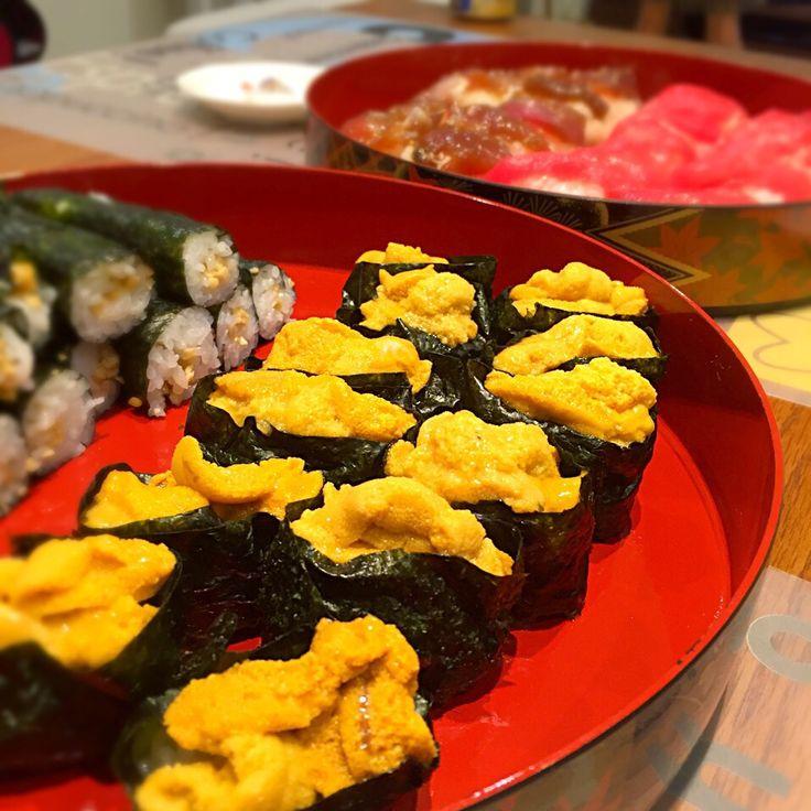 sakyu's dish photo 七夕お寿司パーリー | http://snapdish.co #SnapDish #晩ご飯 #七夕 #お寿司