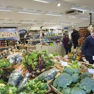 White Row Farm Shop Beckington - huge selection of fresh produce and lovely things for making Christmas gift hampers.