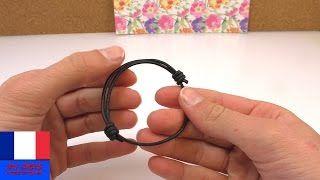 faire un noeud coulissant pour bracelet - YouTube