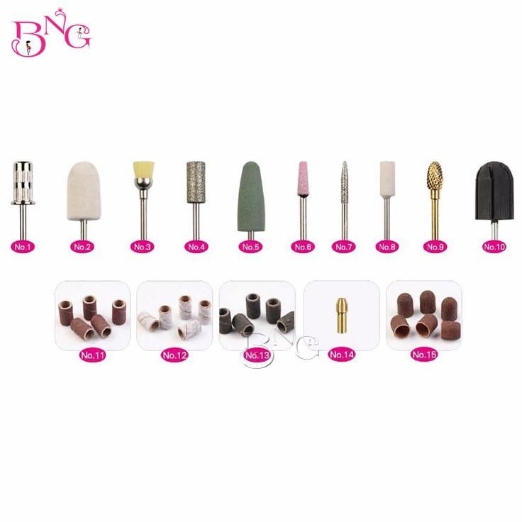 32pcs/box Professional Manicure Pedicure Kit Nail Bits For Electric Nail Files Drill Machine Nail Art Tools Callus Polishing Kit