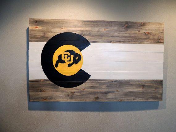 Custom Colorado CU Boulder University of Colo Flag by TimberSigns. #CUBoulder