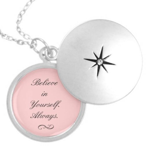 Believe in Yourself Locket Necklace
