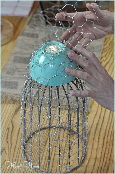 Chicken Wire Cloche | Wire, DIY and crafts and Chicken