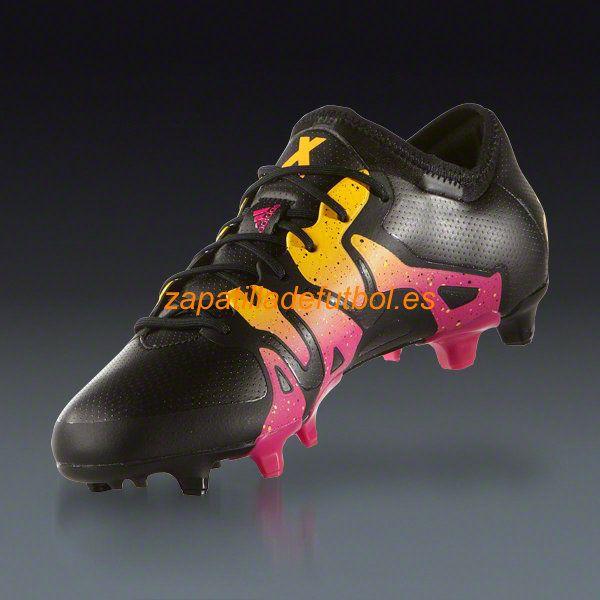 ... Botas De futbol Adidas X 15.1 FG AG Negro Rosa Choque Solar Oro  f462c27b49cd5