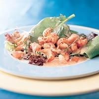 Recept - Salade van rivierkreeftjes met vanille-dressing - Allerhande