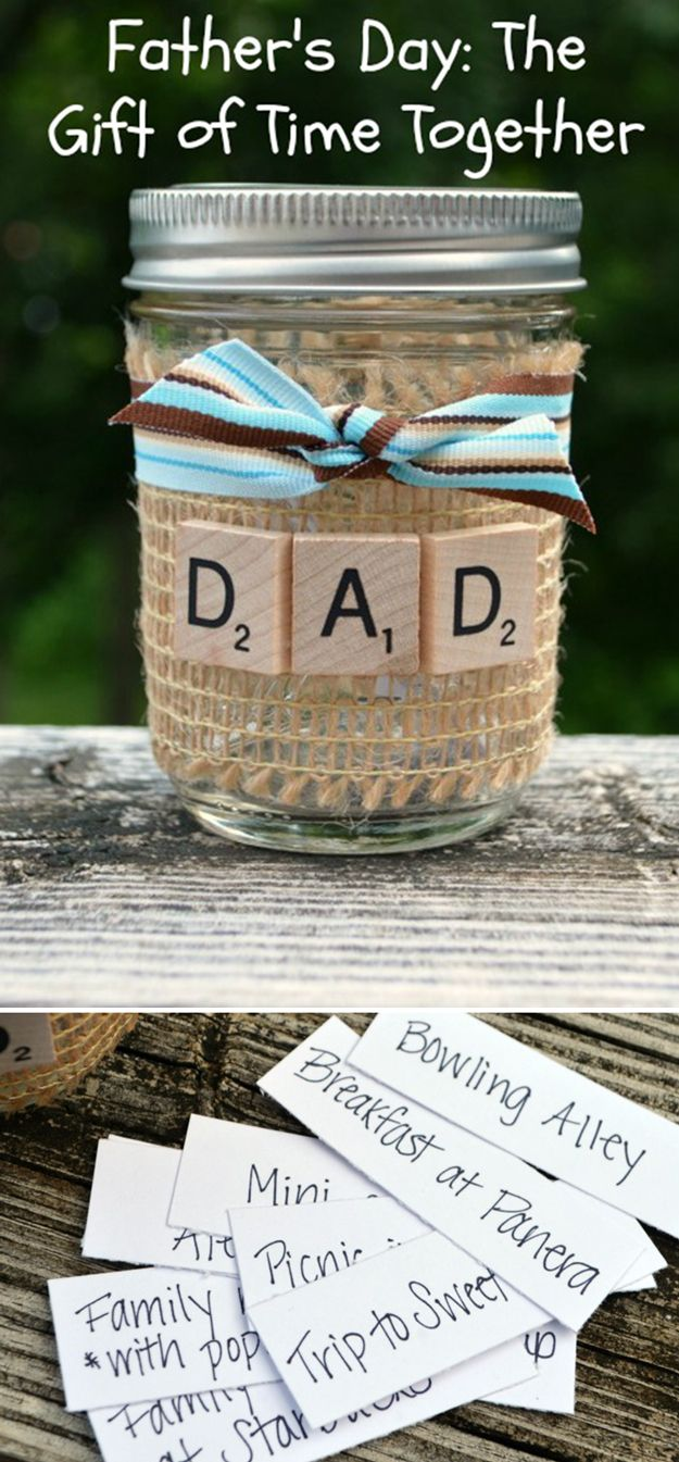 Simple Homemade Father's Day Gift Ideas | Give the Gift of Time by DIY Ready at http://diyready.com/21-cool-fathers-day-gift-ideas/
