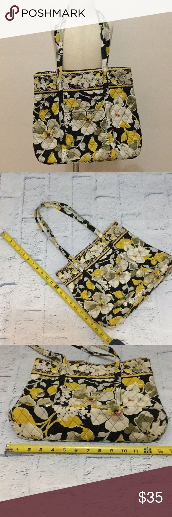 Vera Bradley Dogwood Tote Excellent used condition. Front pocket on outside, no inside pockets. Measurements in pics. Vera Bradley Bags Totes
