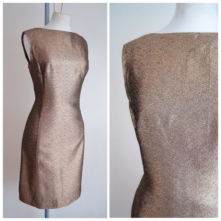 1960s Gold lamé fitted shift dress / 60s metallic cocktail dress - M by Veramode on Etsy https://www.etsy.com/listing/260911213/1960s-gold-lame-fitted-shift-dress-60s