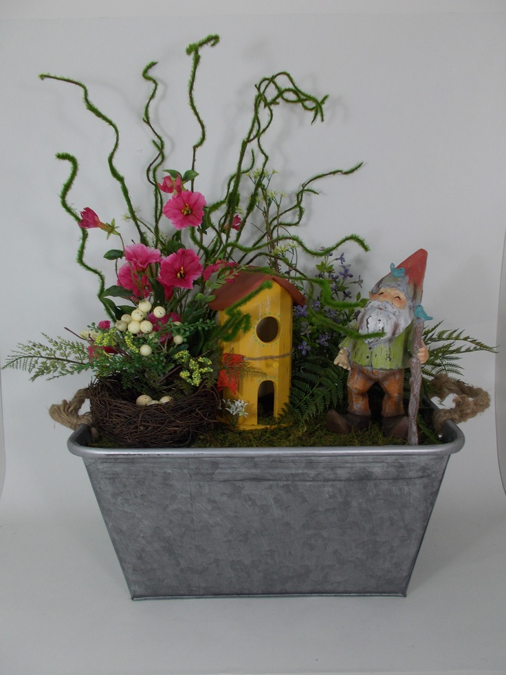 Fairy gardens can be created in any container fairy for How to make a fairy garden container