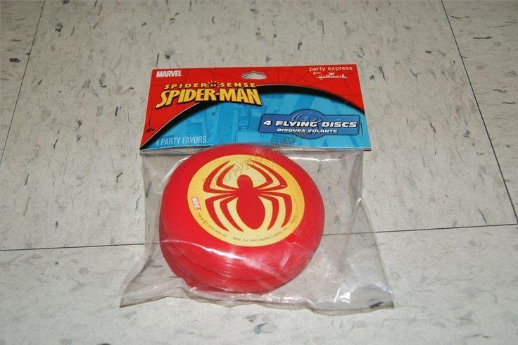 Spiderman Spider Sense 4 Flying Discs Mini Frisbees