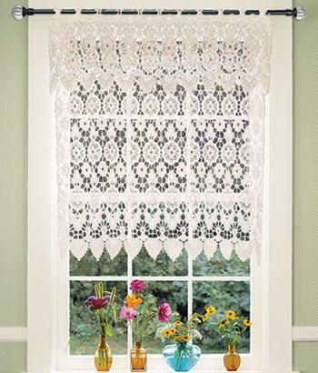 Tier Curtains Macrame Medallion Tier Curtains - Country Curtains ...
