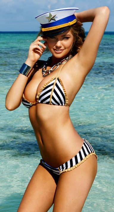 Where's the pool boy.....We'll play captain and first mate!! ....... Kate Upton ♥