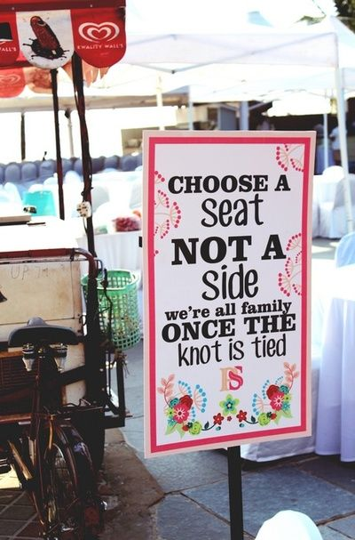 Cute Wedding Signage |Weddings by Purple Tree Event Solutions                                                                                                                                                     More