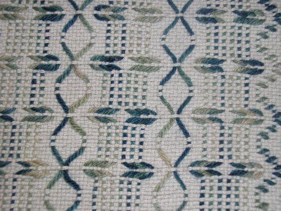 Gray Swedish Weaving Blanket by NeenersWeaving on Etsy