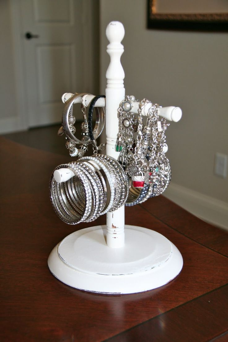 creative jewelry holder from a coffee cup holder