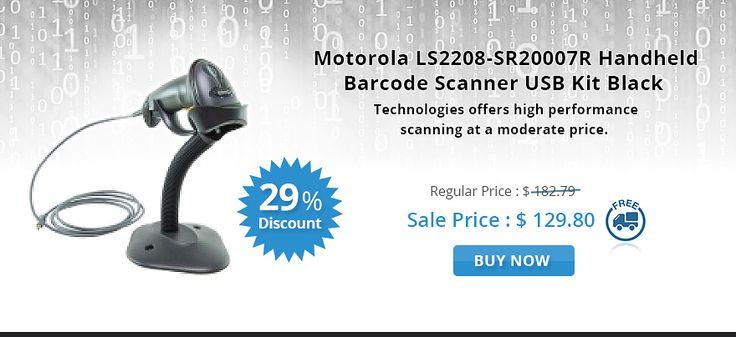 Get NOW 29% OFF on Motorola LS2208-SR20007R Handheld Barcode Scanner USB Kit Black. OnlyPOS online store offers FREE Shipping across Australia..!  http://www.onlypos.com.au/motorola-LS2208-SR20007R