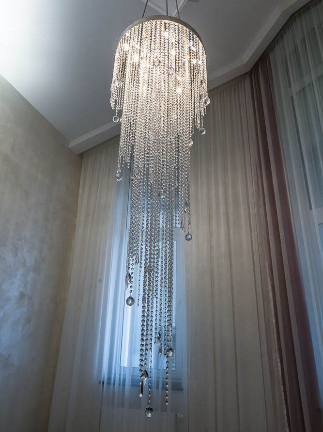 Luxurious crystal chandeliers #CrystalCeilingLight