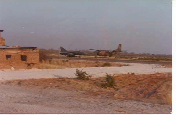 Rundu 1988 Mirage F1 coming to land.