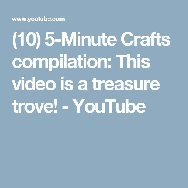 (10) 5-Minute Crafts compilation: This video is a treasure trove! - YouTube