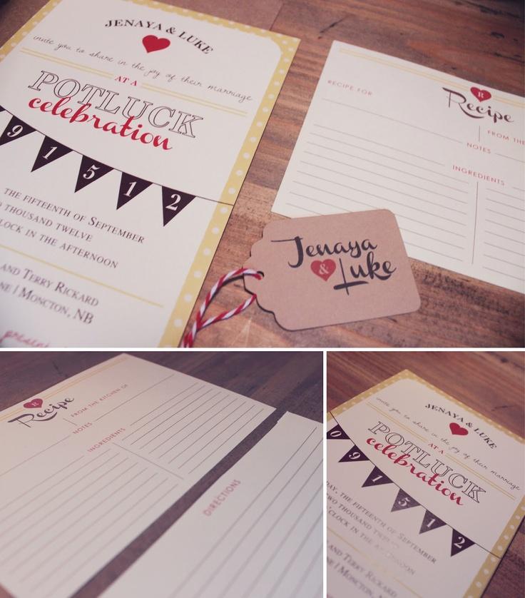 LYMBURSLIP: Jenaya & Luke // Potluck Wedding Reception Invitations